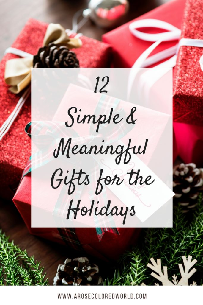 simple and meaningful gifts